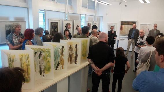 """Sterntaler, Teil der Ausstellung """"Moderne Druckgrafik aus Österreich"""", Kleine Galerie, 1030 Wien, 2016"""