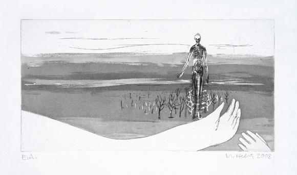 01, Ätzradierung, Aquatinta, Papierformat 27x38cm