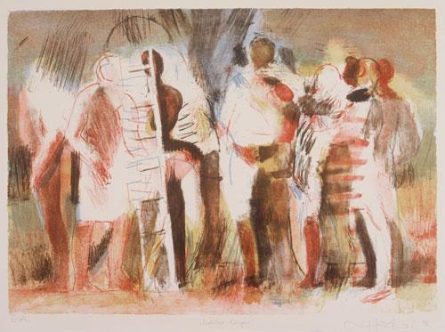 Leiter-Körper, 1998, Lithographie, 4 Steine, 48 x 64 cm, Edition 20