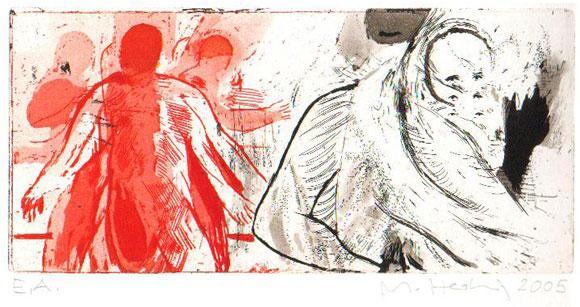 Crash, 2005, Radierung, zwei Kupferplatten, 11 x 24 cm, Edition 20