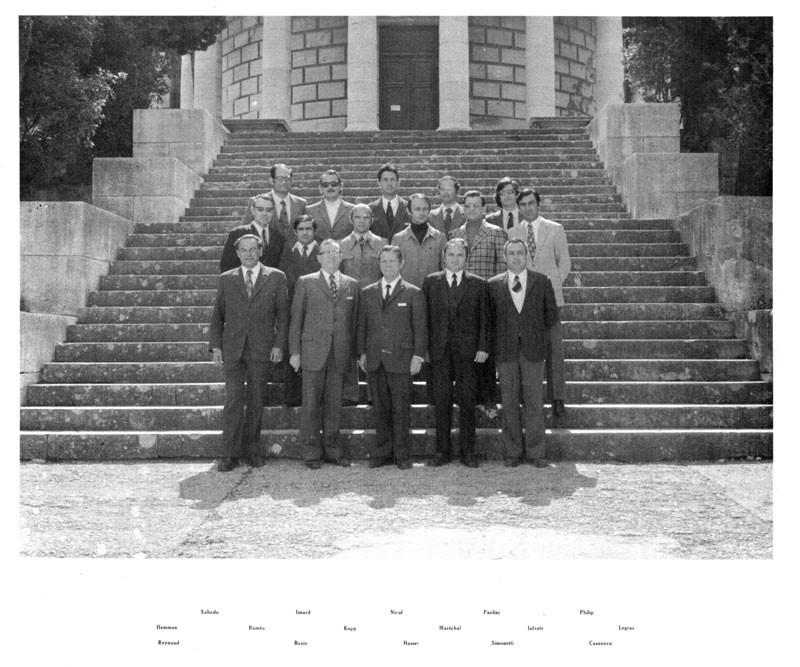 Professeurs 1973