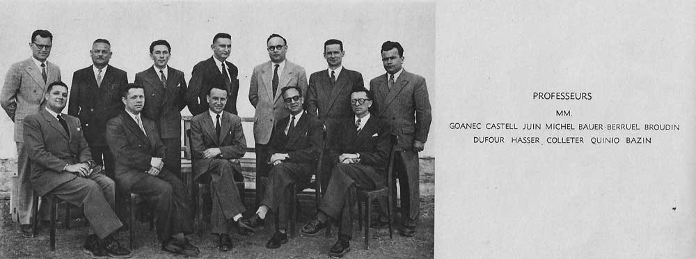 Professeurs 1952