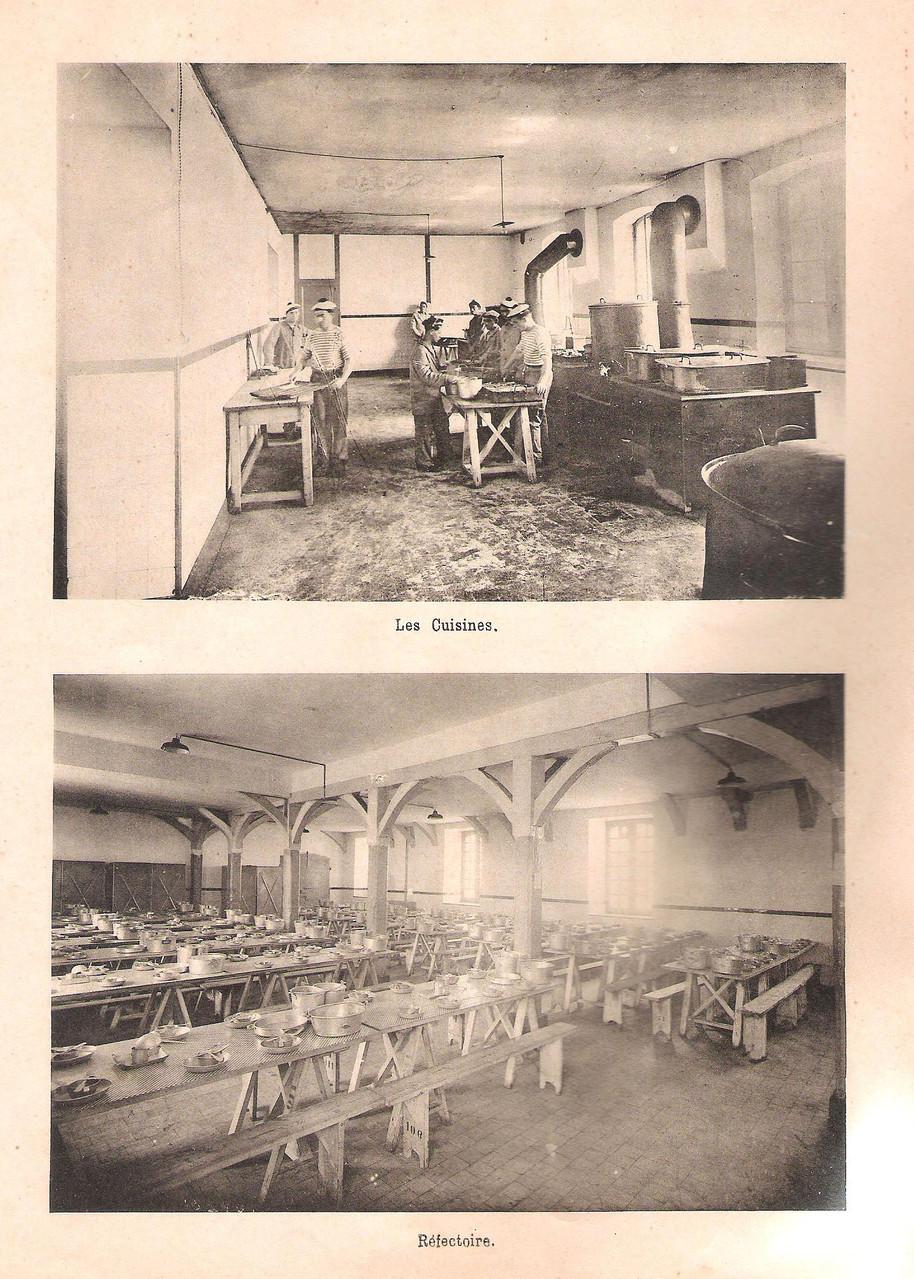 Les cuisines et le réfectoire