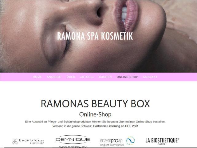 Ramona Spa Kosmetik neu mit Online-Shop