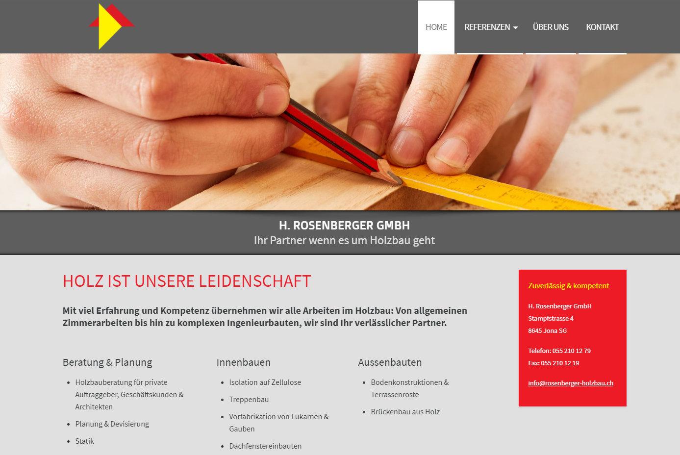 Neue Website für H. Rosenberger GmbH