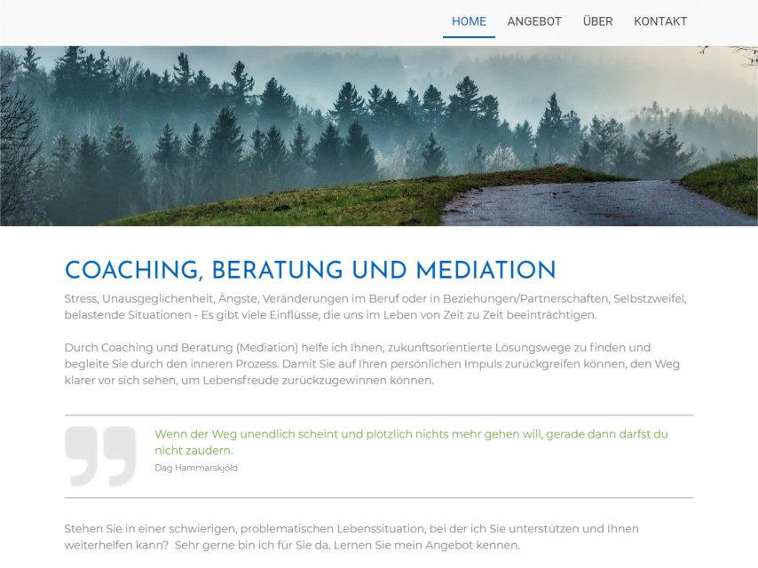 Neue Website für Röne Rüegg, Coaching, Beratung & Mediation