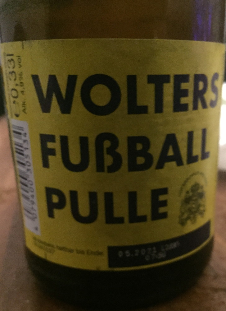 Wolters Fußball Pulle