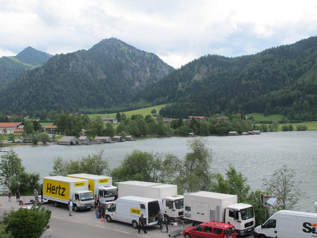 ... auch die Bavaria-Film ist von diesem wunderbaren Ausblick sehr angetan!