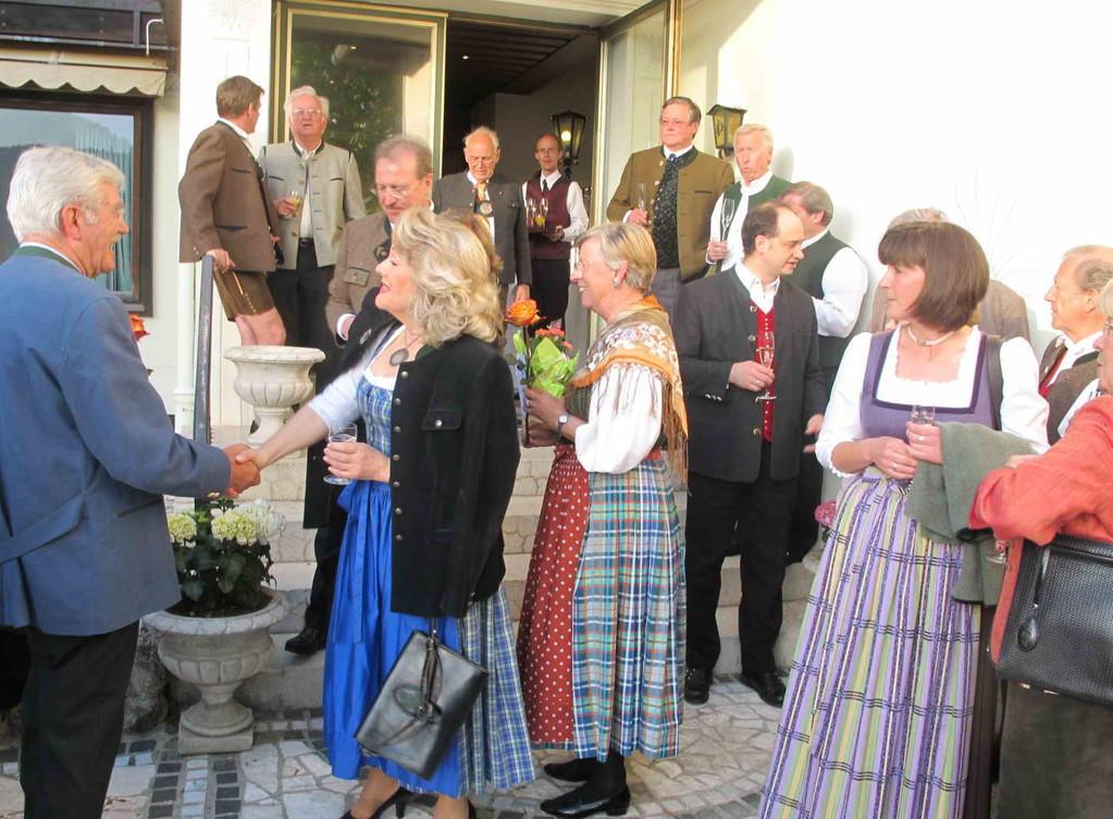 Elisabeth Oberhorner, Spielleiterin vom Bauerntheater, mit Ehemann Heiner