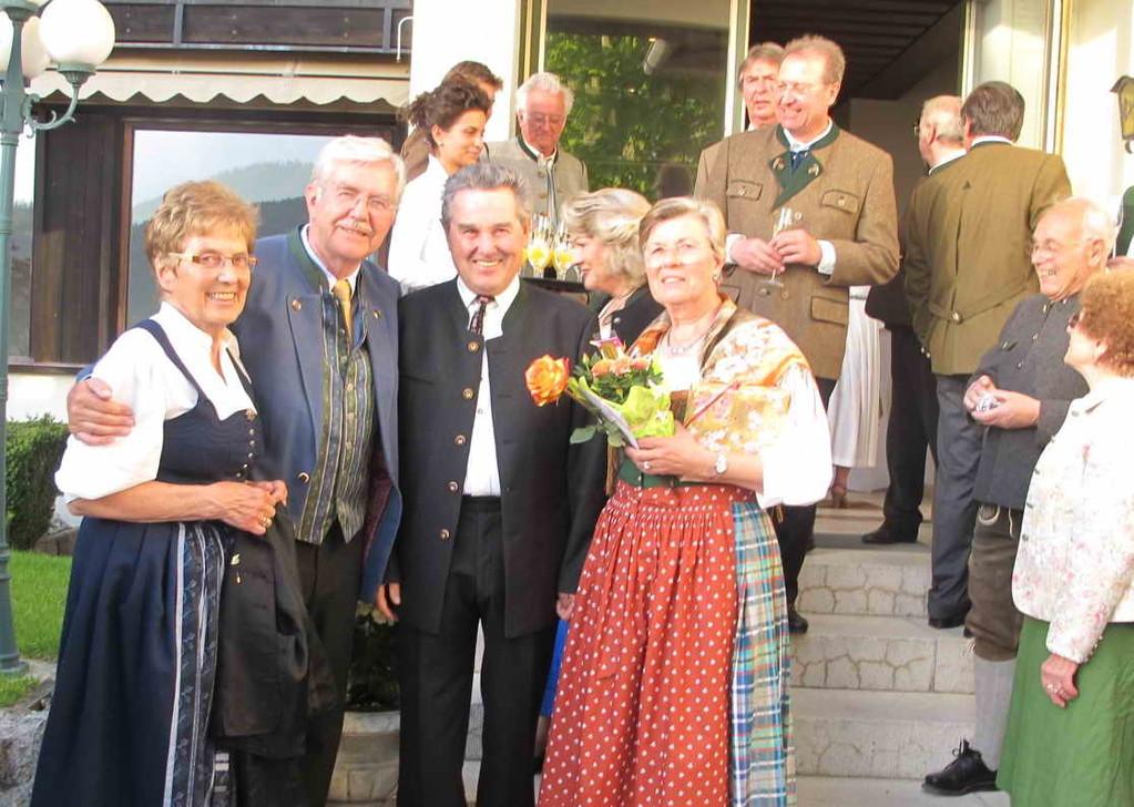 Alt-Bürgermeister Adalbert Lang mit Frau Renate