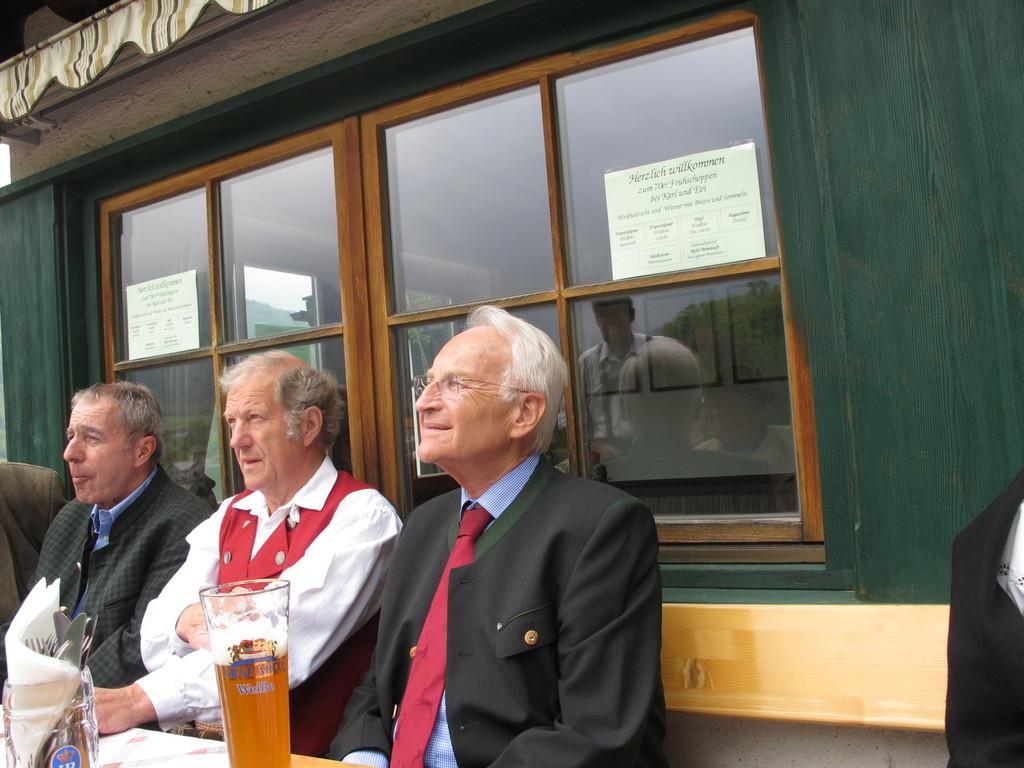 Schwager Albert mit Edmund Stoiber