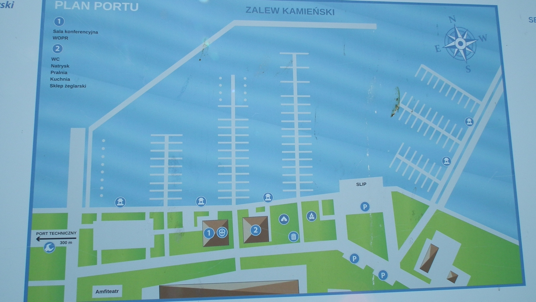 Hafenplan Kamien Pomorski