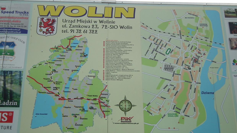 Karte Wolin