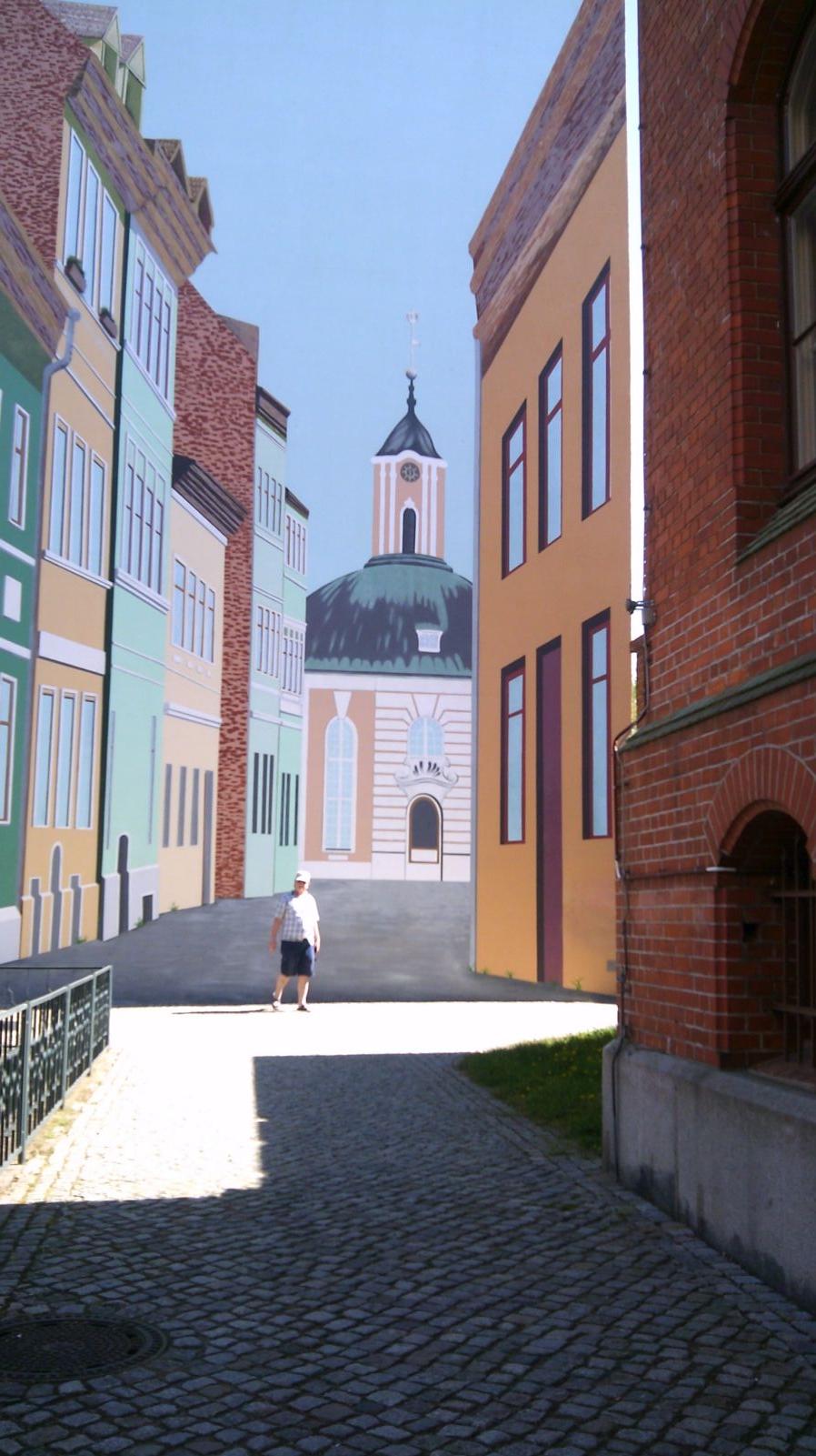 Die gemalte Kirche in Schwedt - sieht echt echt aus