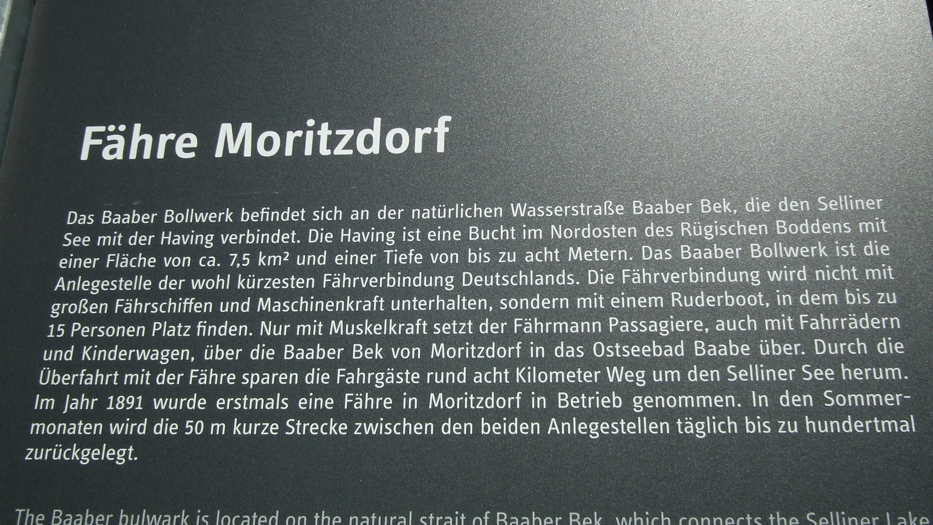 Fähre Moritzdorf