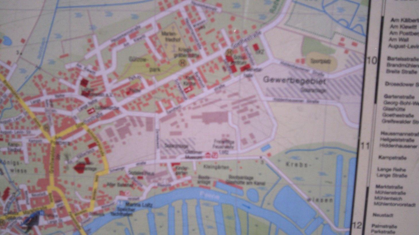 Stadtplan Loitz Peene
