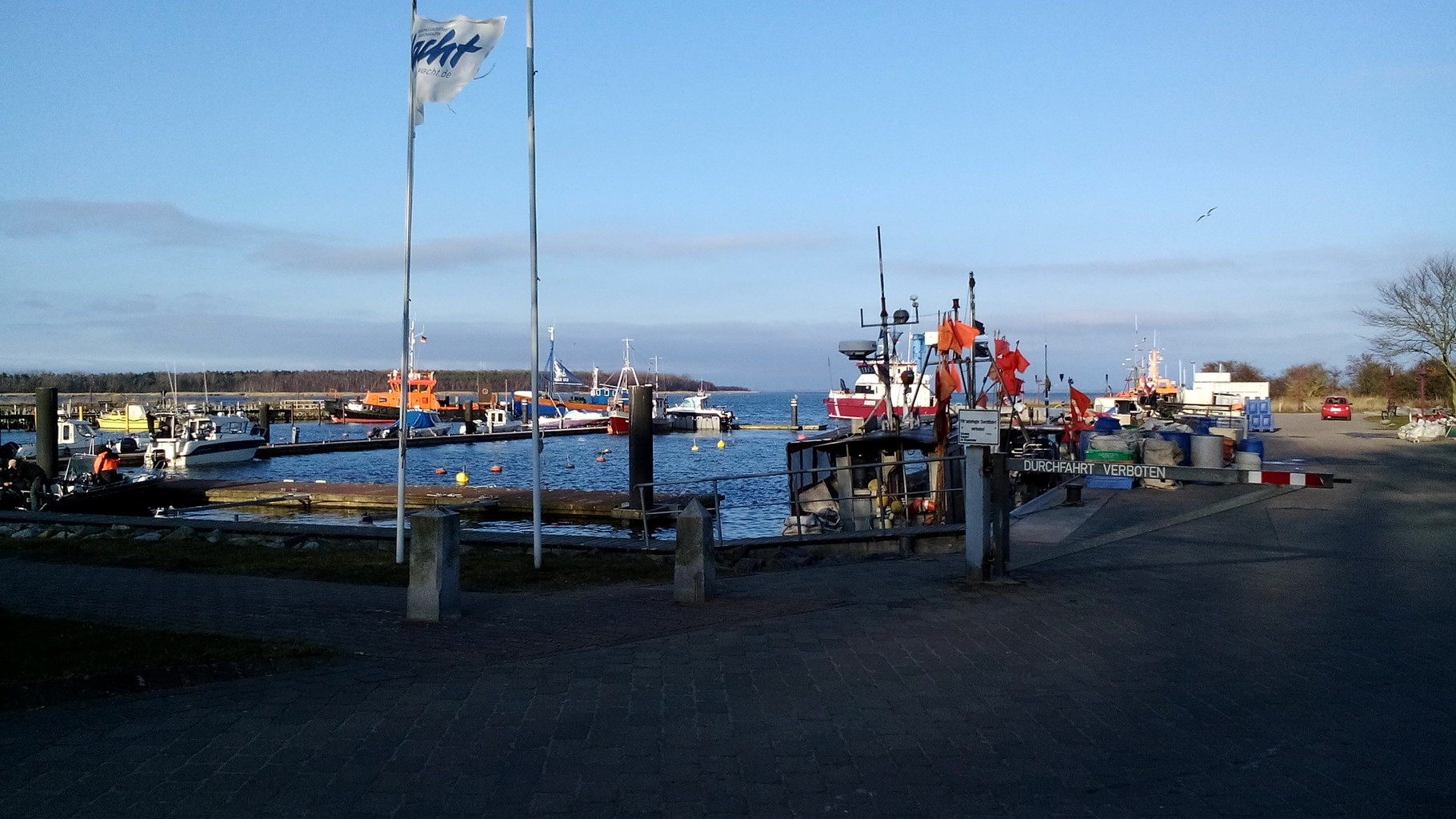 Der Hafen von Barhöft