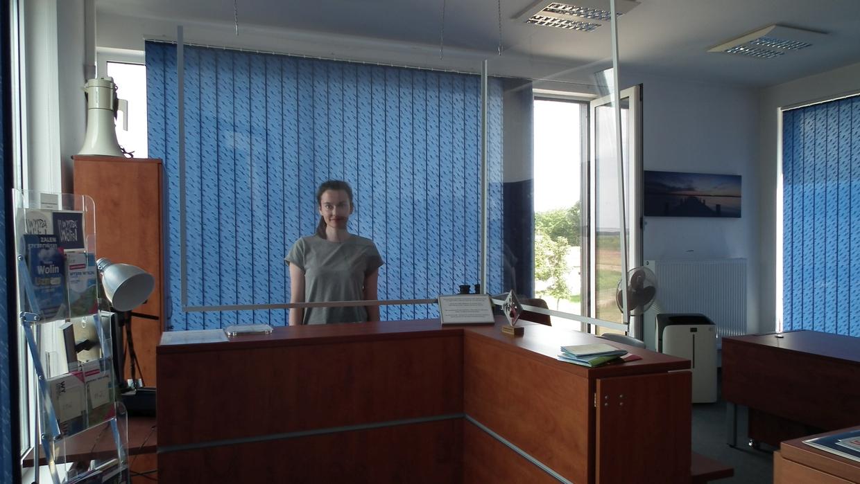 Die freundliche Anmeldung im Yachthafen Wapnica