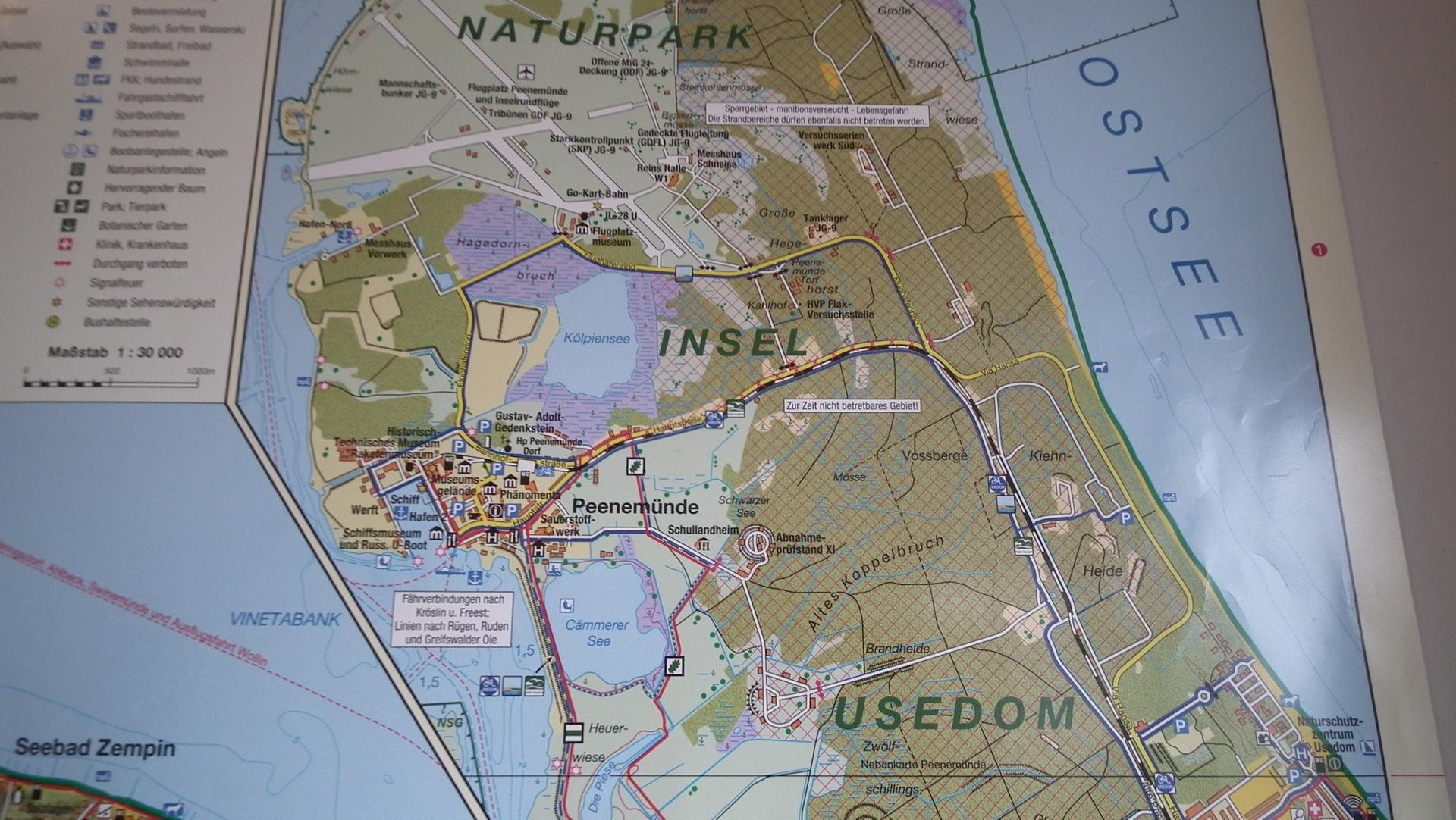 Landkarte Peenemünde