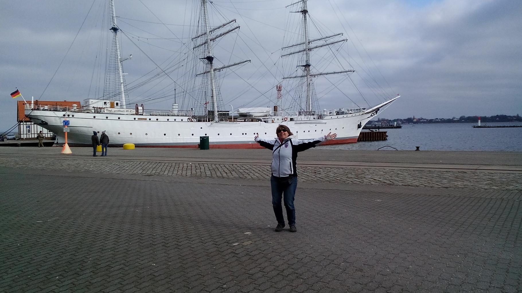 Die Gorch Fock in Stralsund 15 km von uns
