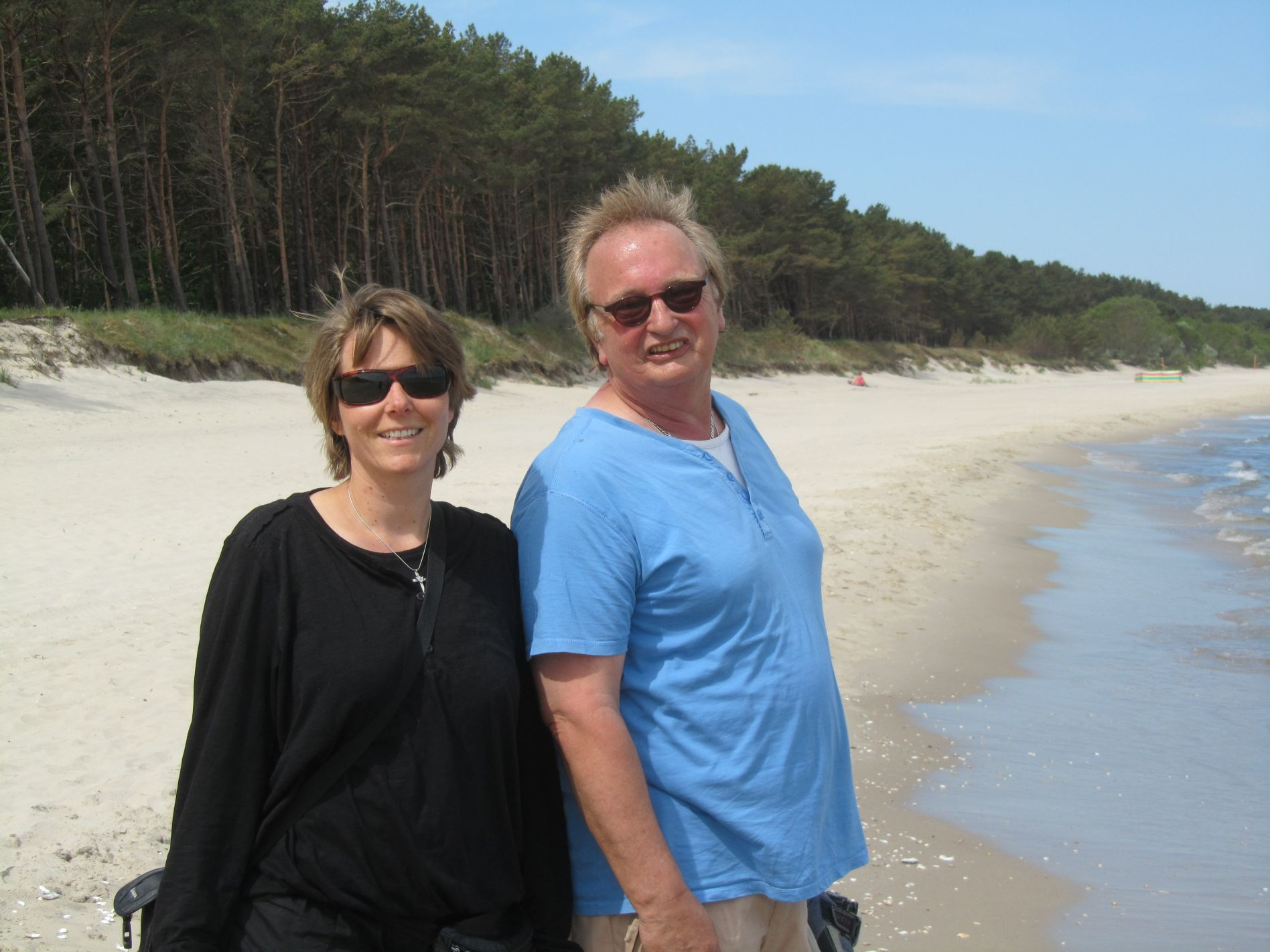 Dunja und Stephan am Strand auf Usedom