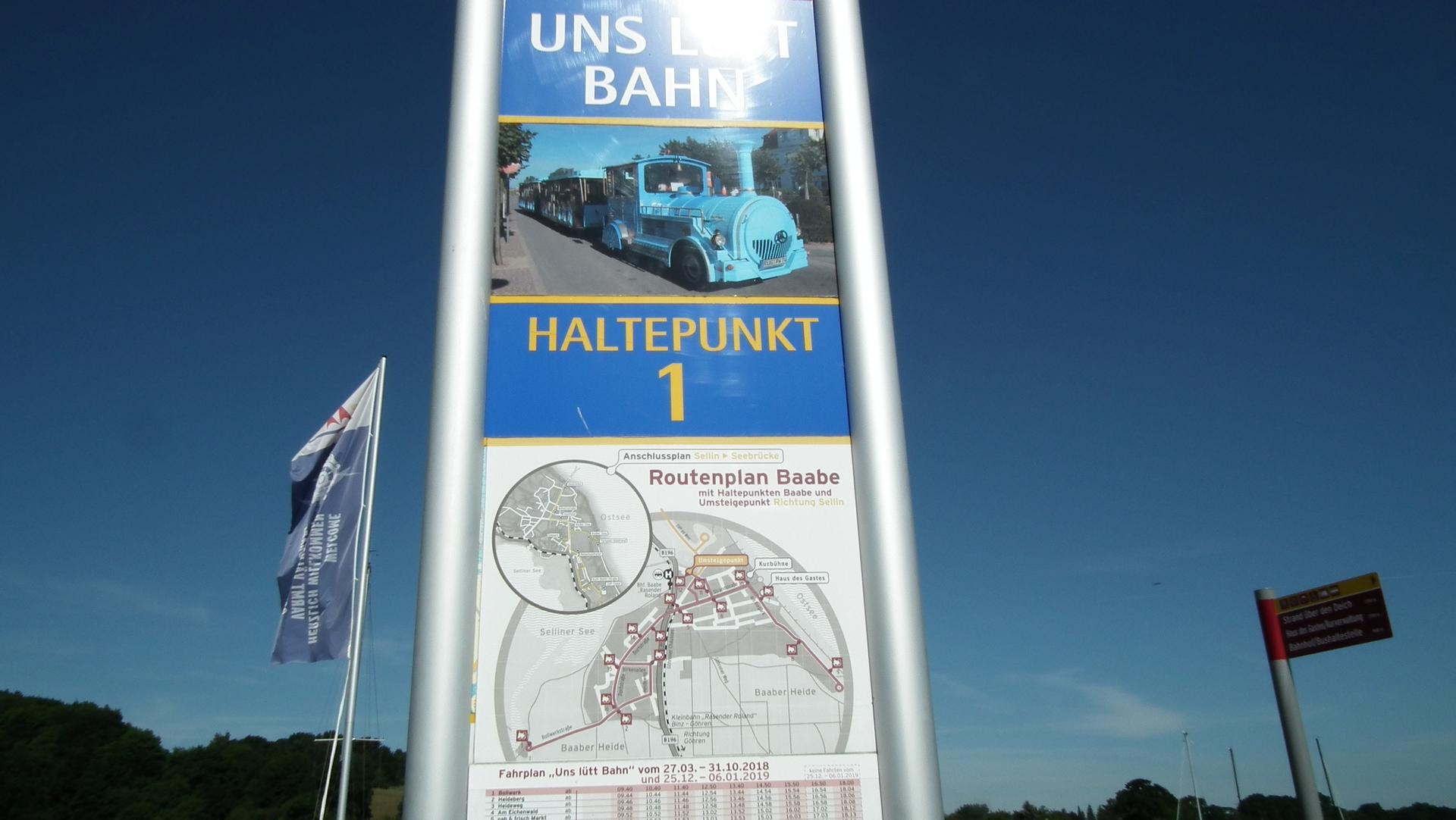 Haltestelle Bimmelbahn Baabe