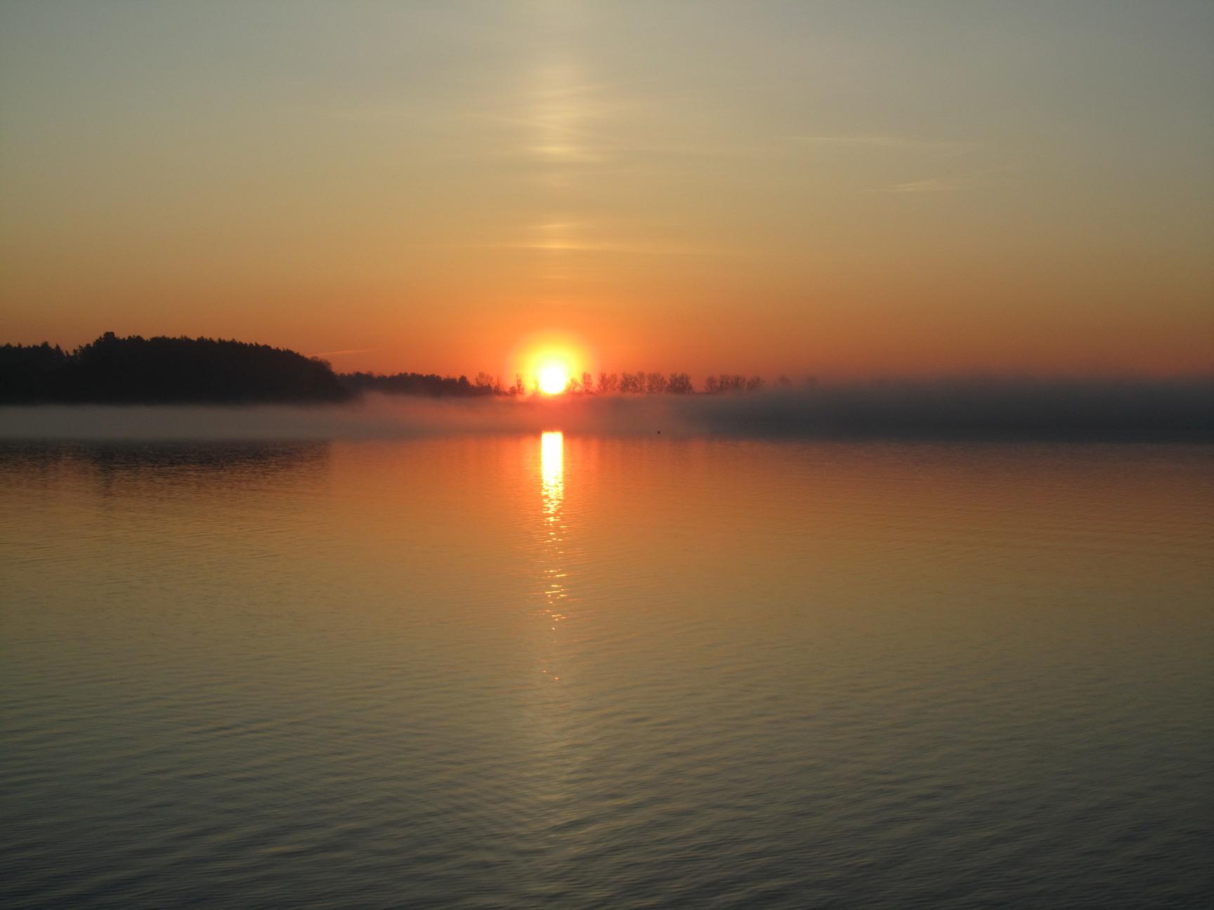 Sonnenaufgang auf dem Strelasund