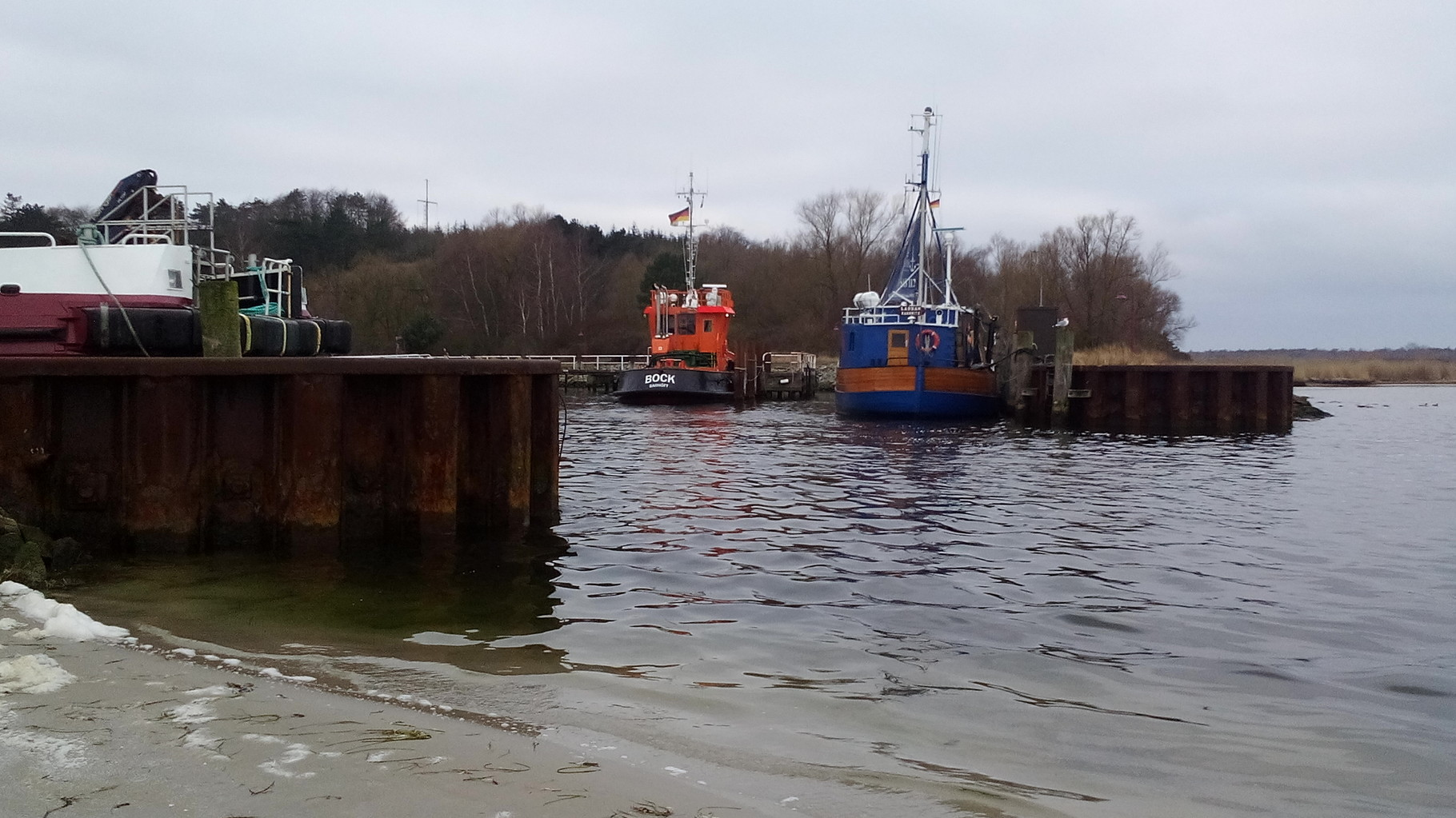 Hafen Einfahrt Barhöft