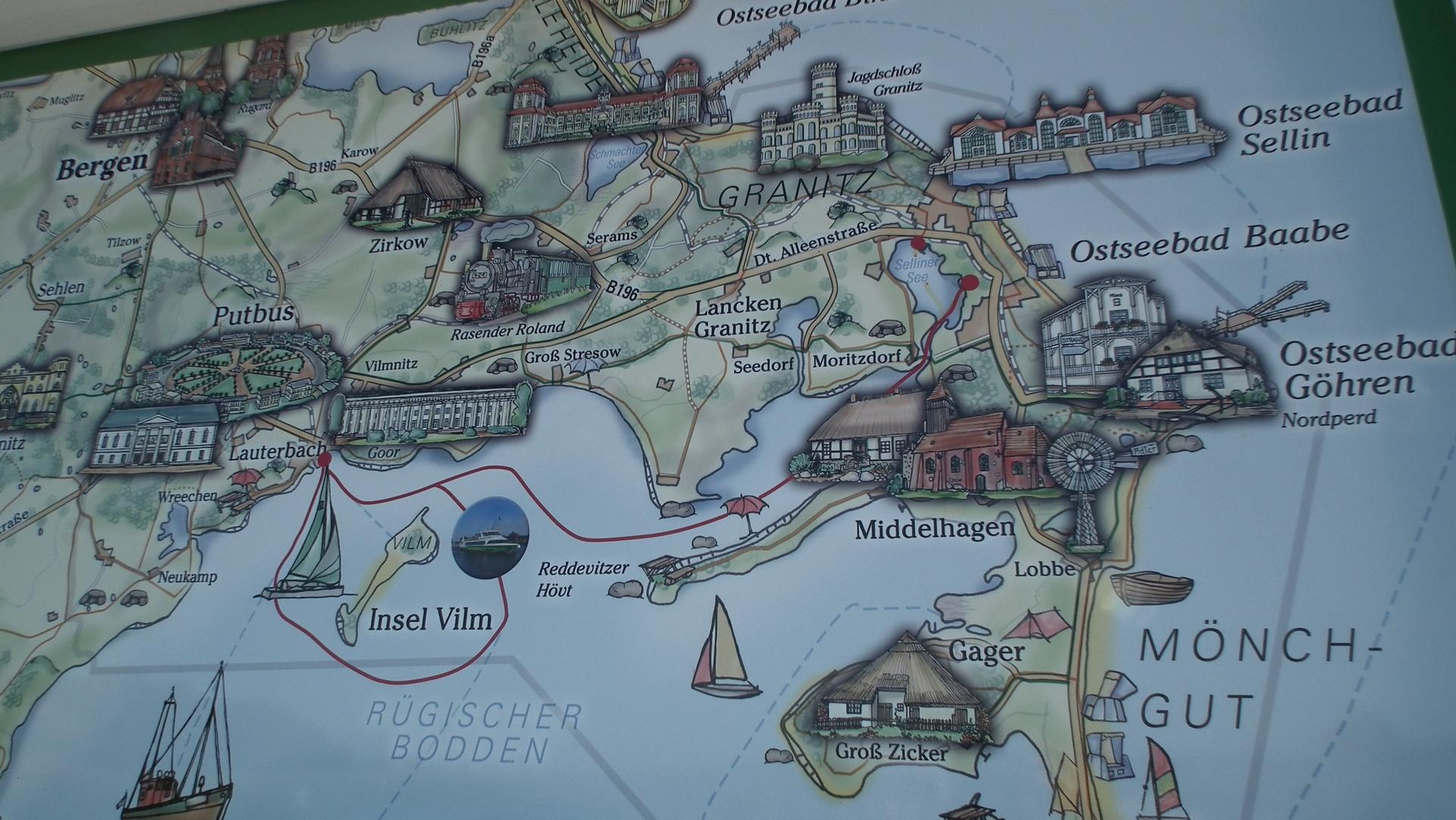 Landkarte Baabe