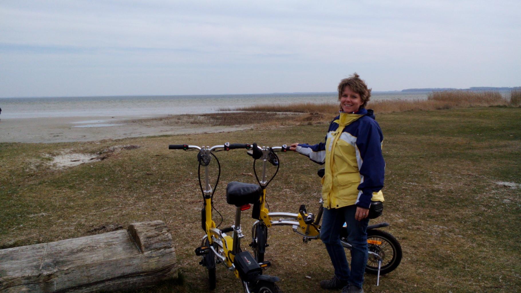 Radfahren an Ostern. Hier in Klausdorf