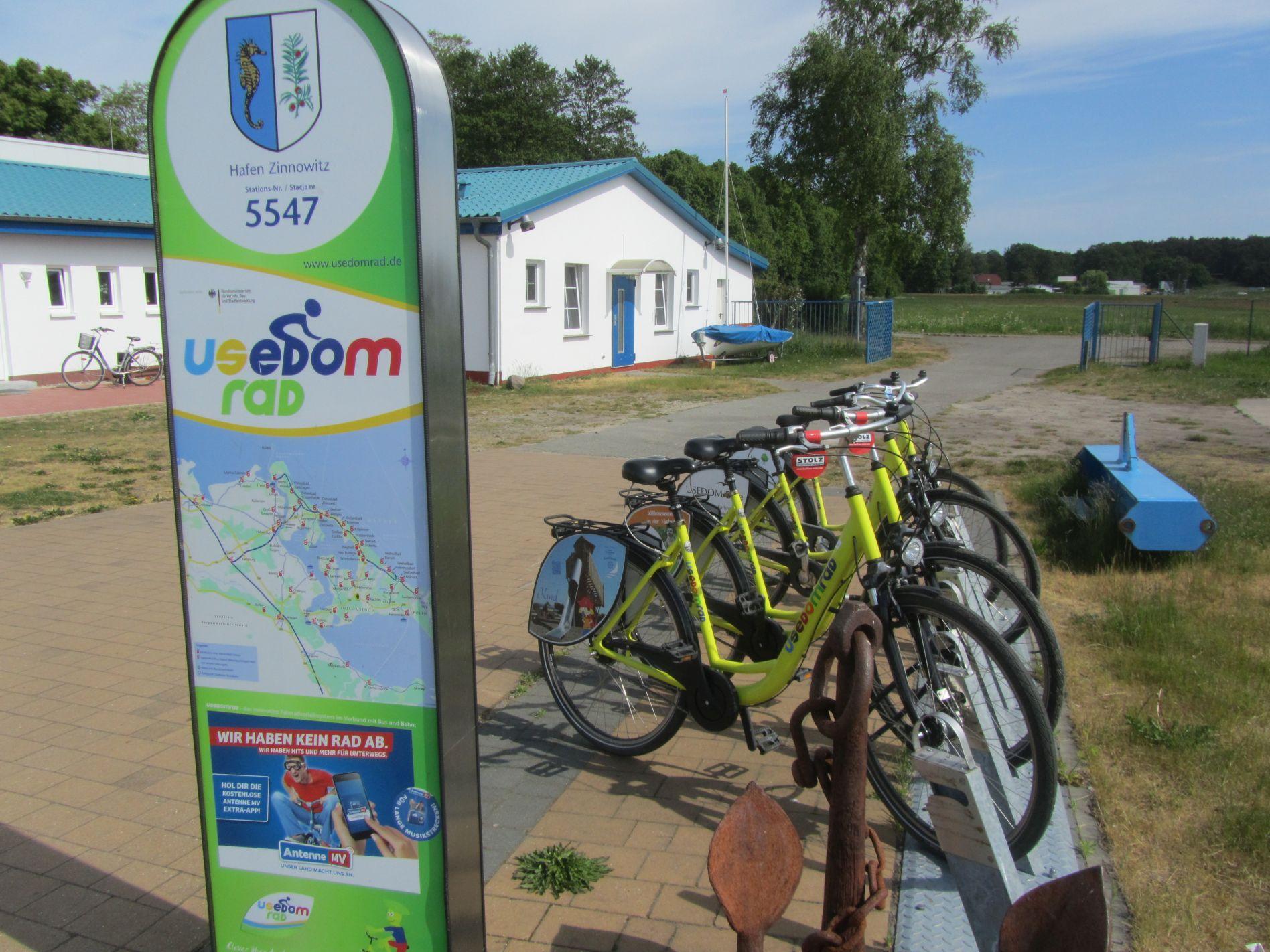 Fahrrad mieten am Hafen in Zinnowitz