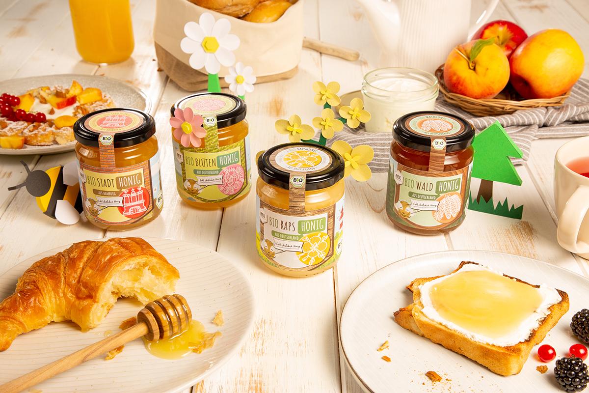Echt ehrlicher BIO-Honig in vier leckeren Sorten
