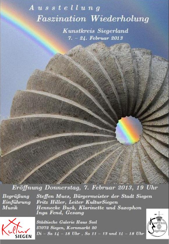 "Plakat zur Ausstellung ""Faszination Wiederholung"" 2013 des Kunstkreis Siegerland"