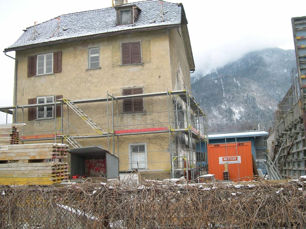 Bauzustand Südfassade