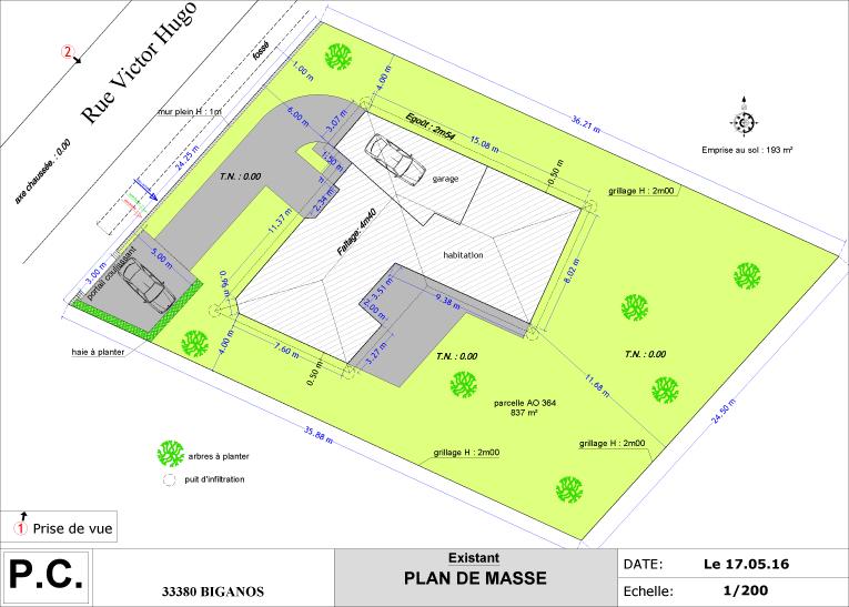 Exemples Ralisations  Plans Pour Permis De Construire Ou