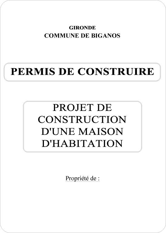 Exemple permis de construire maison plan permis de for Application pour construire une maison