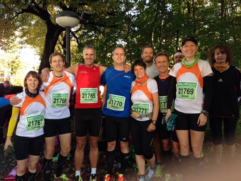 Die Halbmarathonis vor dem Start