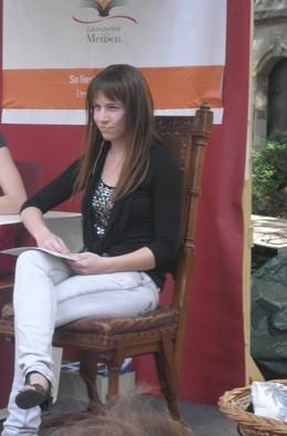Pamela Gelfert auf dem Literaturfest Meißen