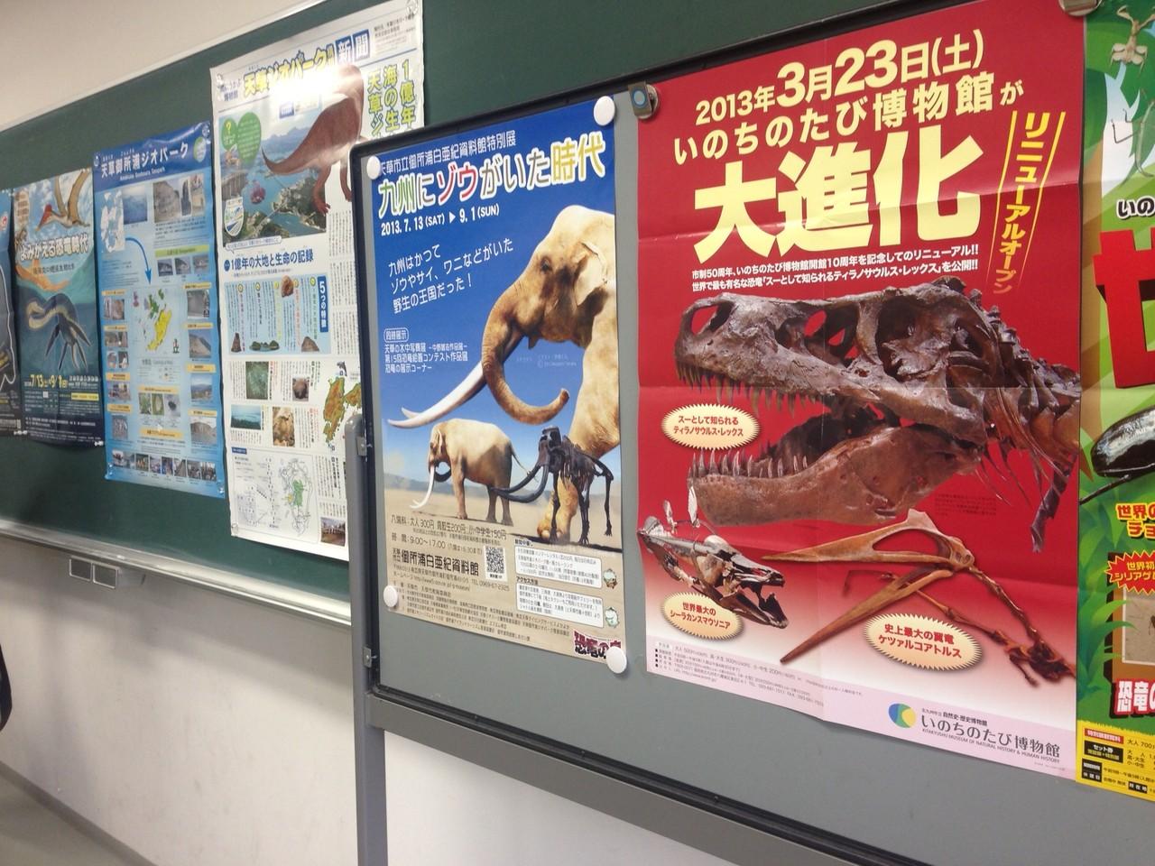 各地の博物館の特別展ポスターもずらりと