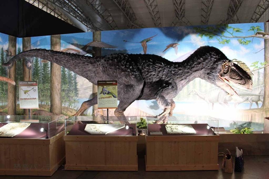 東ローラシア大陸 熱河恐竜王国ゾーン ユティランヌス・フアリ生態復元モデル