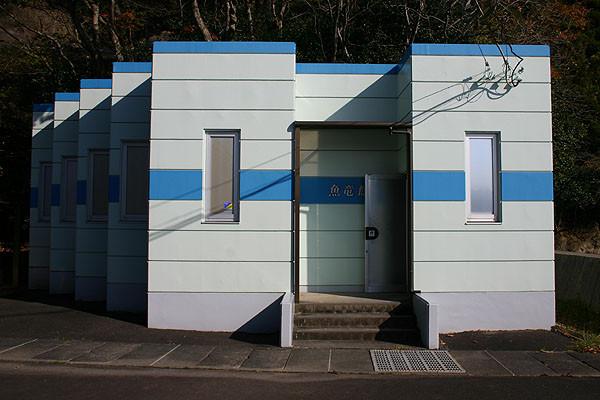魚竜館の裏にある、クダノハマギョリュウの展示