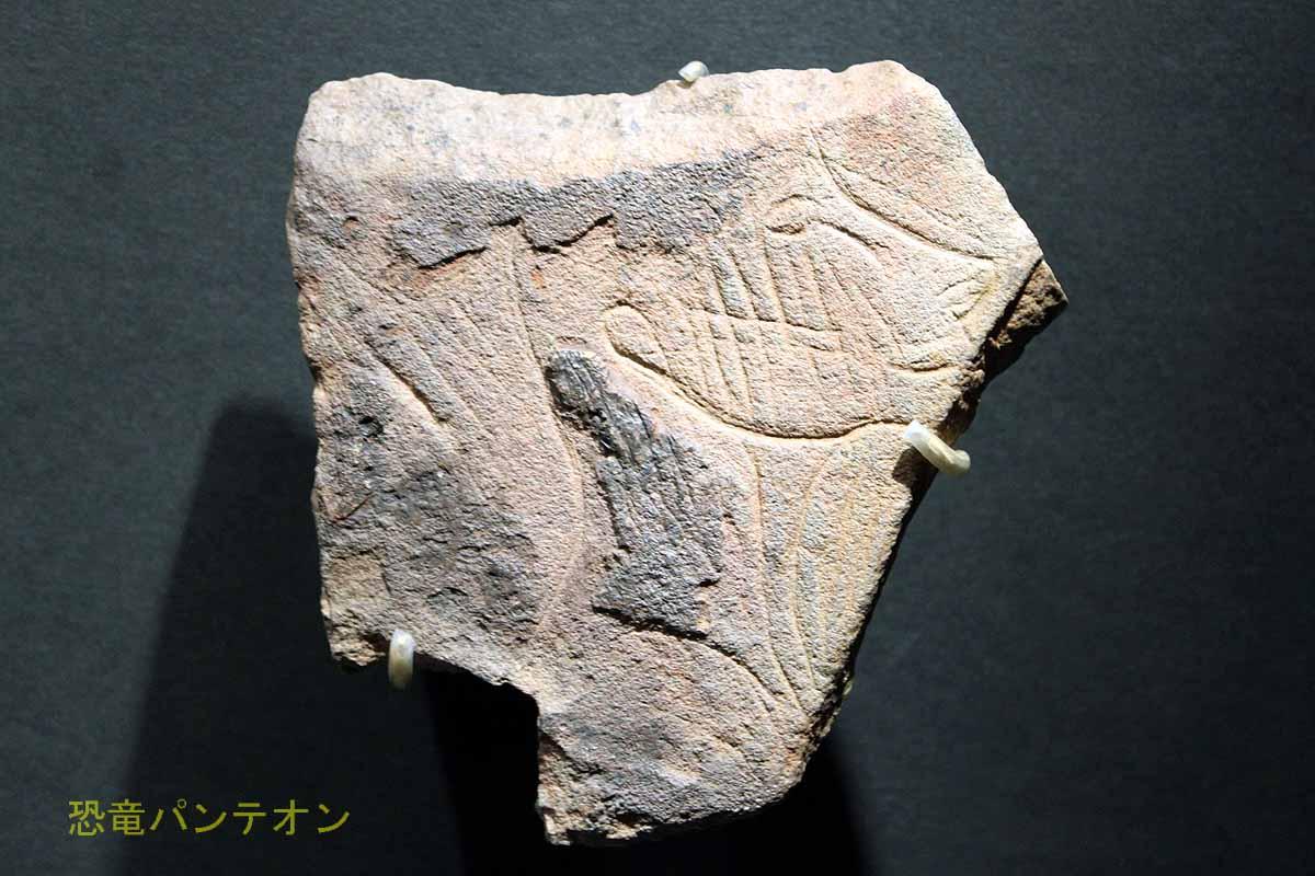 ヒトの頭が刻まれた石版 フランス国立考古学博物館(サン=ジェルマン=アン=レー)所蔵