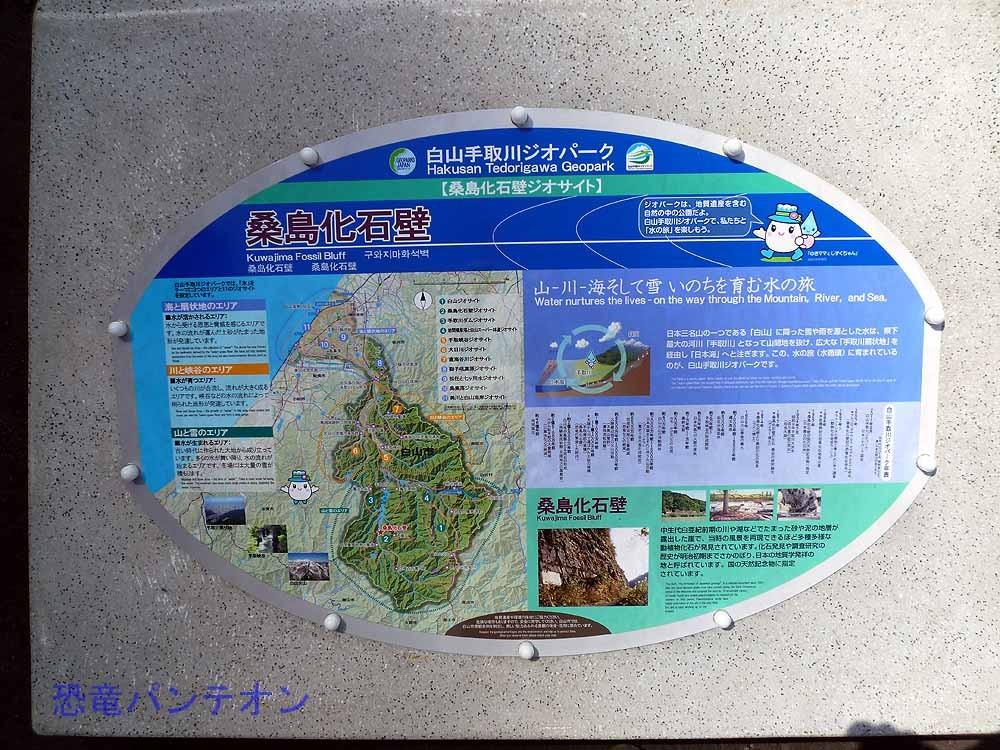 ジオパークの説明板