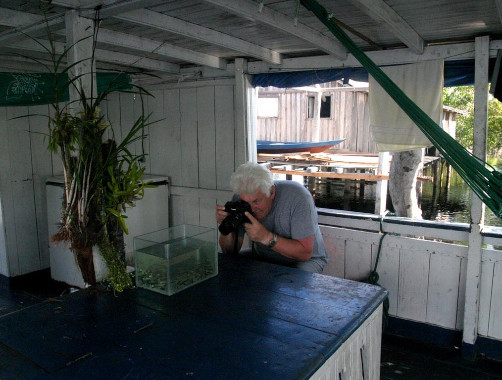 In dem Aquarium hatten wir jeden Tag andere Fische, die ich auf diese Weise gut fotografieren konnte.