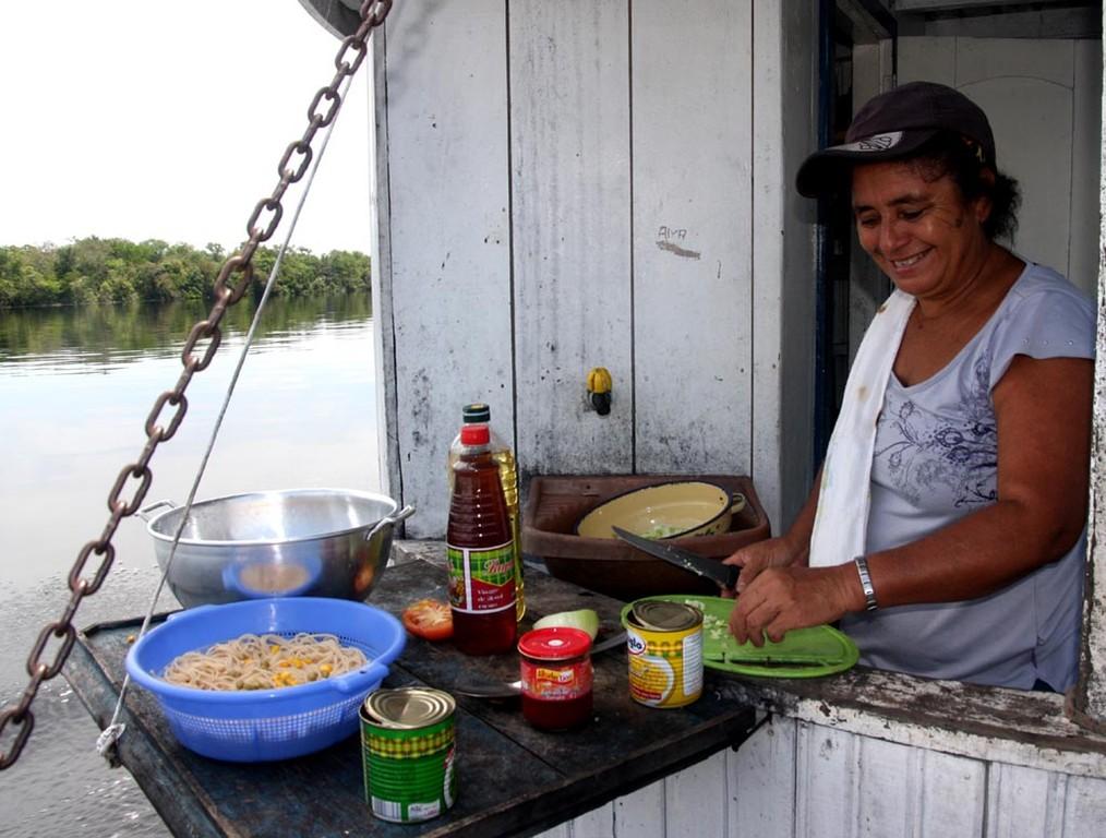 Rosimar verwöhnte uns täglich mit gutem Essen.