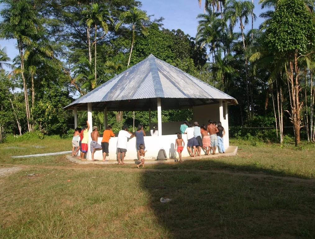 In der neuen Kapelle werden alle Gastgeschenke ausgestellt.