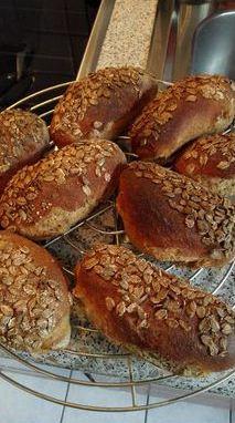 gebackene Baquettebrötchen