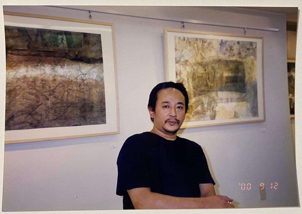 ギャラリークラマー、原 大介 個展会場にて、2000年