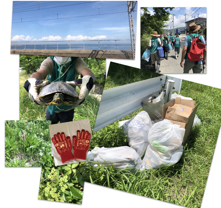 Volunteer for river cleanup