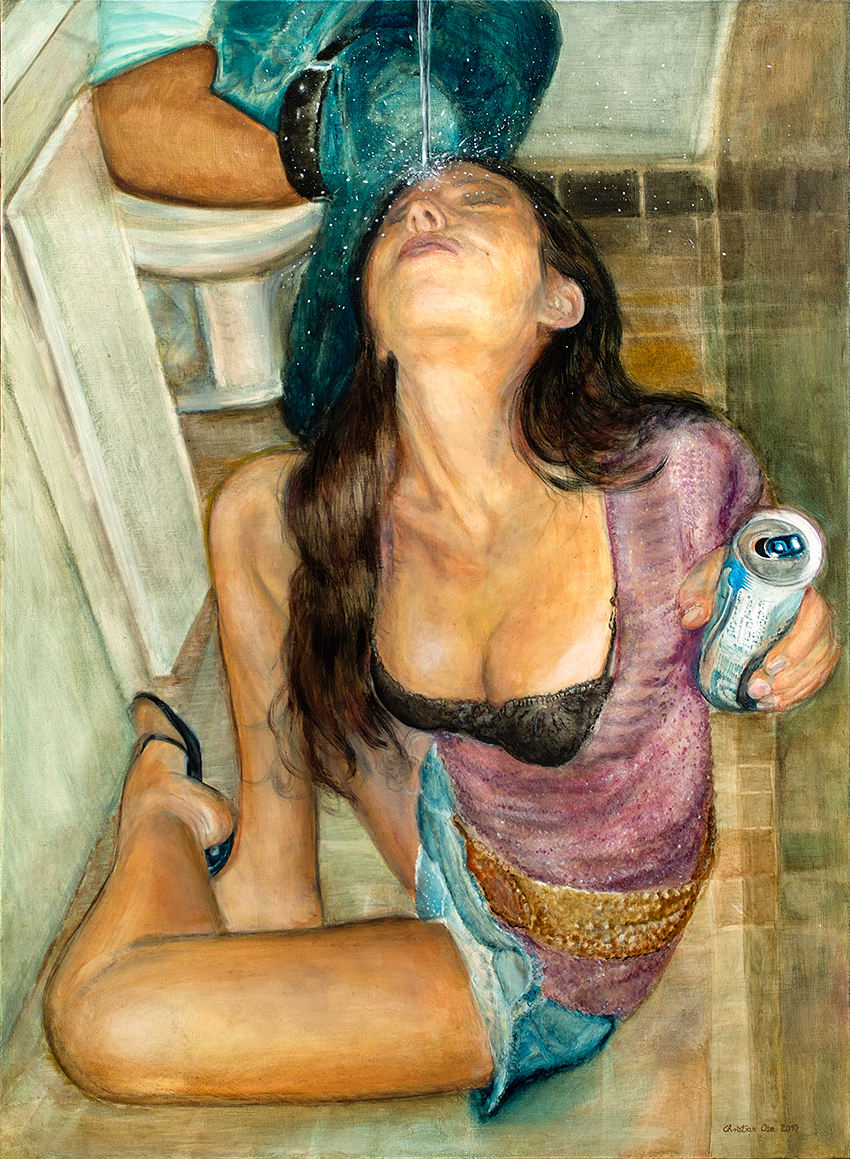 'Energy Drink',  Öl-Lacklasuren 115 x 150 cm